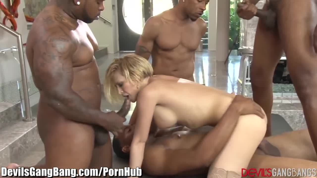 image Interracial porn granny dped by two black men anal and pussy fucked rough
