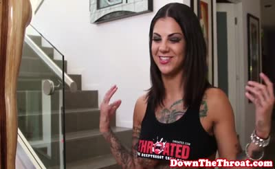 Deepthroating Bonnie Rotten facefucked