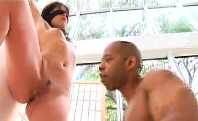 tiffany hopkins is blindfolded and suprised by a bbc anal