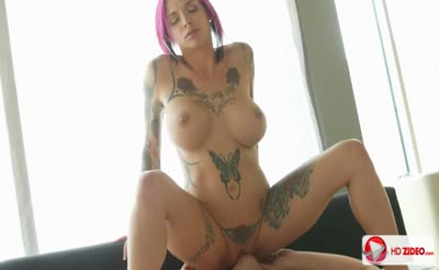 Anna Bell Peaks wets her pussy using dildo and then has a spectacular fuck