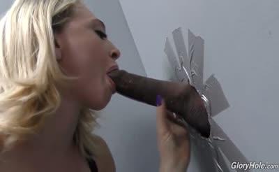 Blonde hottie Sucking and Fucking at Glory hole