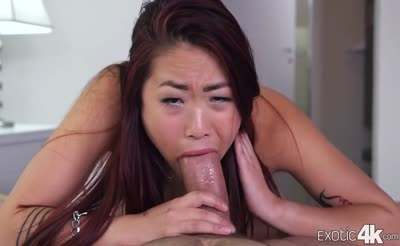 Asian American Lea Hart taking fat cock