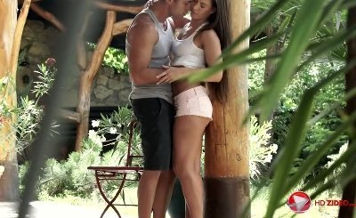 Athena blowjob for raise in a Forest HD