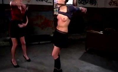 Naughty schoolgirl flogged by LEZDOM teacher