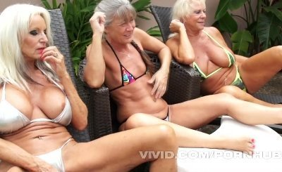 3 Grandmas Get Black Dick Deep Inside Them, Begging to Drink Their Cum