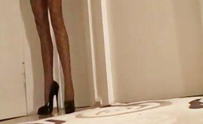 7.5 Inch High Heels - Netzstrumpfhose - Minikleid 1 bdsm bondage slave femd
