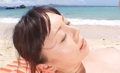Ai Takeuchi beachfront gangbang asian porn 3 by OutdoorJPN