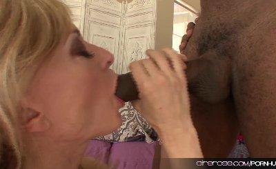 Airerose Legendary MILF Nina Hartley Rides a Huge Black Cock