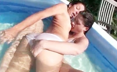 Alissa Ashley and Tyler Trainor Cute Lesbians in the pool 3 by RealBangBook
