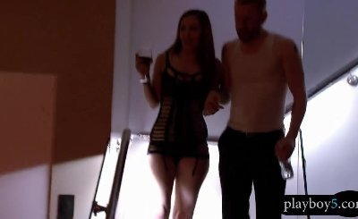 Amateur couple are first time swingers and have groupsex