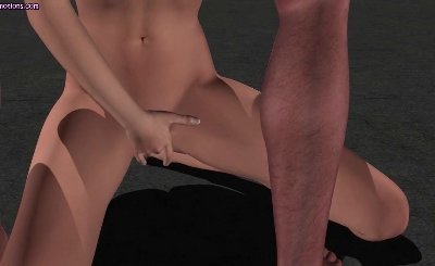Animated redhead babe gets mouth drilled by huge dick