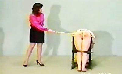 Anne Bowman Office Caning Pt.2 bdsm bondage slave femdom domination