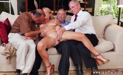 Asian old men Frankie And The Gang Tag Team A Door To Door Saleswoman