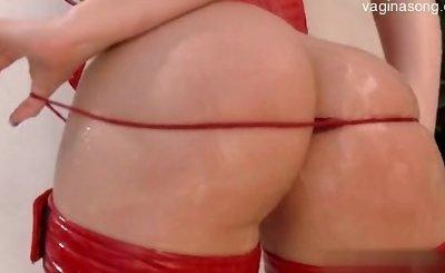 Beautiful shaved pussy buttfucking