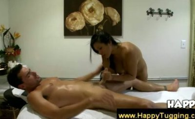 Big breasted asian fucked in massage parlor