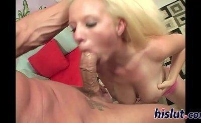 Big tits get showered in sticky spunk
