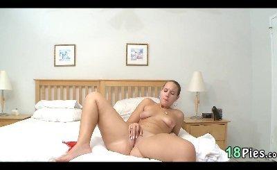 Blonde Makes Herself Cum Nikki Stone