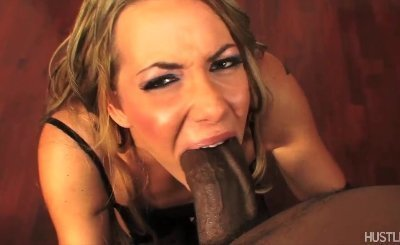Blonde slut BEGS to have PUSSY SPLIT OPEN by Shorty Mac's XXX HUGE BLACK COCK !