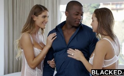 College threesome Abigail Mac and August Ames Love Big Black Cock
