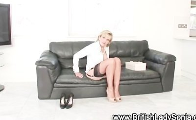 British mature slut gets some new shoes