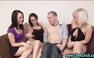British cfnm nasty hoes suck on cock