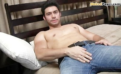 Buff Latino big uncut dick
