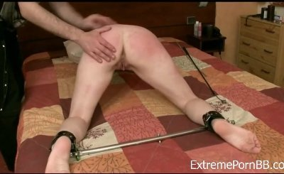 Candle Wax And Dildo Insertion BDSM