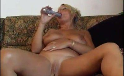 Chubby granny sucking big cock