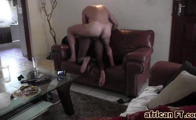 Cowgirl Fucking Black Slut Big Ass Shaved Pussy