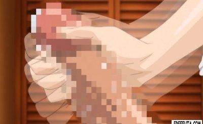 Cute little hentai dickgirl gets head and fucking