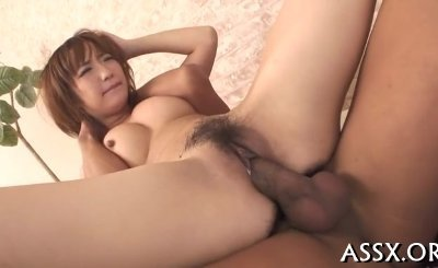 cute asian with butt plug thrills several cocks with blowjob