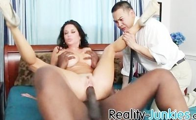 Cuckold watches her wife getting fucked