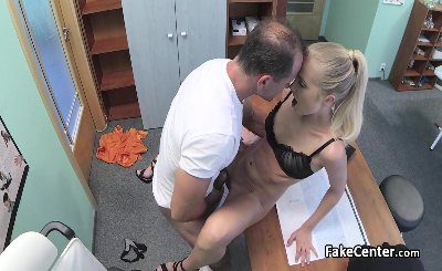 Doctor fucks slim wife of his boss part 2