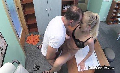 Doctor fucks slim wife of his boss part 2