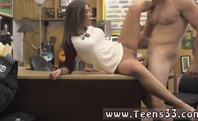 hot teen with huge natural boobs has hot sex on the pawn shop for money