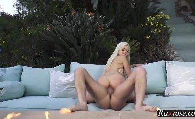 Elsa Jean Slim Teens Cute Blue Bikini