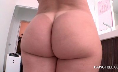 Fine pussy slut bent over and licked from behind