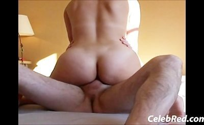 French Wife with Nice Chunky ass rides cock creampie hardcore homemade slut