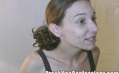 Gemini Three Titty Prostitute shows her skills giving a RUSTY TROMBONE.