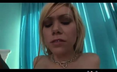 Gorgeous blonde swallows loads from two meat poles