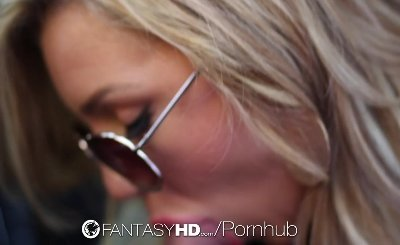 HD - FantasyHD Hitchhiker Cameron Dee gets creampie on top of a car
