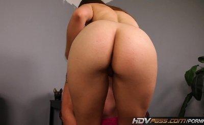 HDVPass Horny brunette Sabrina Taylor sucks off Older man before fucking