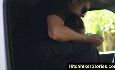 HelplessTeens Miko Dai deepthroats hard outdoors
