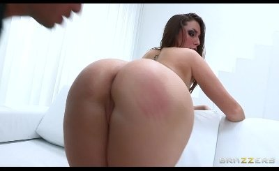 Horny big-booty redhead Paige Turnah is oiled up & fucked hard