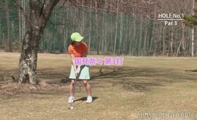 Japanese Teen Golf Whores Get Teased And Creamed By Two Guys