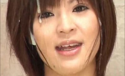 Japanese bukkake tv newscaster cum facial