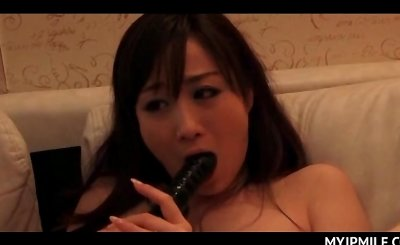 Japanese mom pussy fucked with sex toys and totally pleased