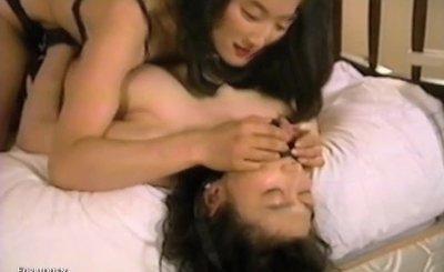 Kinky Oriental lesbian girls enjoy multiple group sex sessions