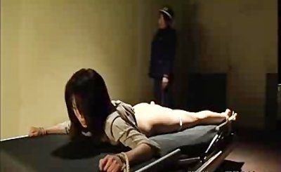 Lesbian Bdsm Bound Woman Is Whipped By Sadistic Guard bdsm bondage slave fe