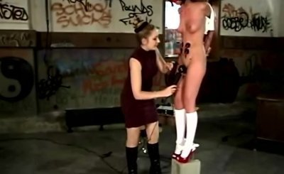 LEZDOM teacher flagellating naughty schoolgirl
